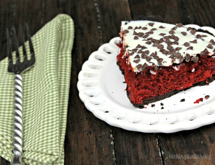 White Chocolate Red Velvet Pie