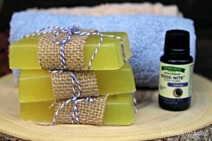 Easy To Make Homemade Essential Oil Soaps good nite