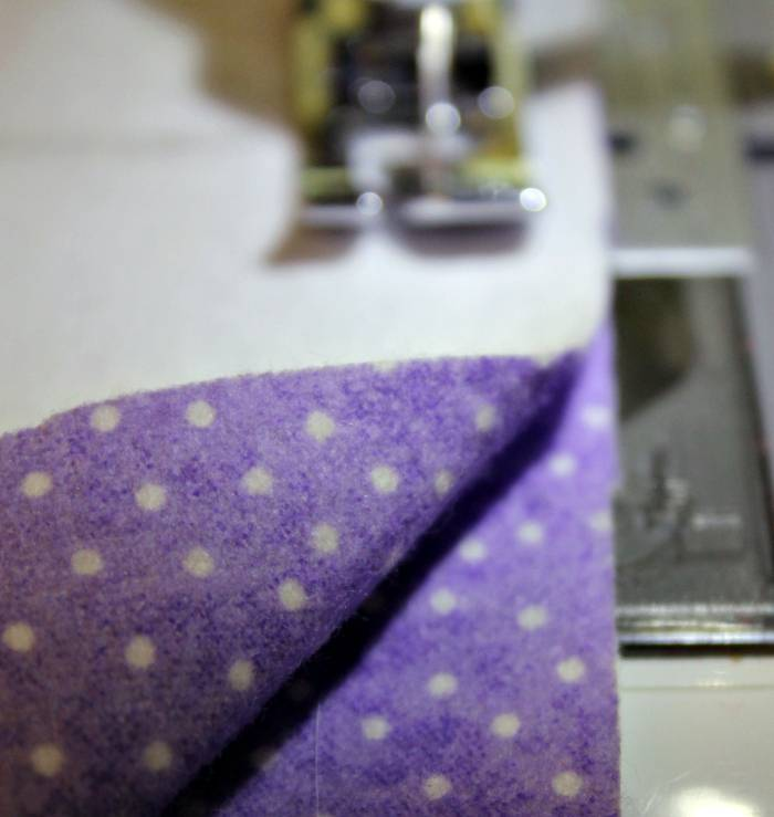 Bean Bag Heating Pad sewing sides
