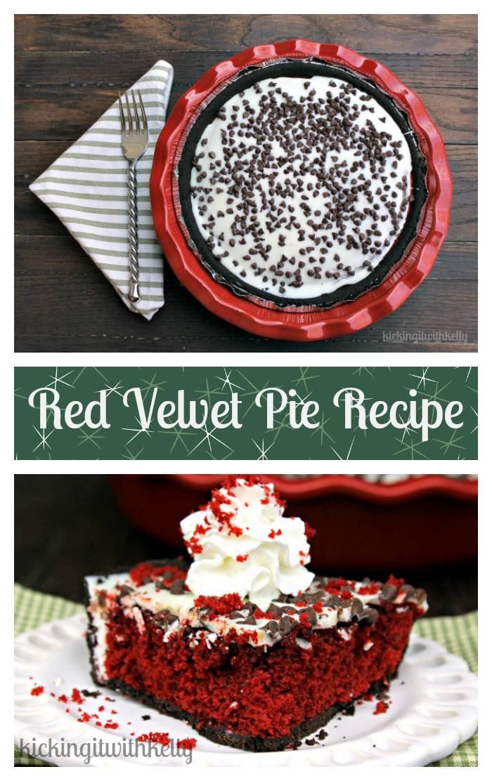 I love to make dessert recipes from scratch when I can. When I don't have time, I make my White Chocolate Red Velvet Pie recipe. It Is an easy Holiday Dessert recipe!