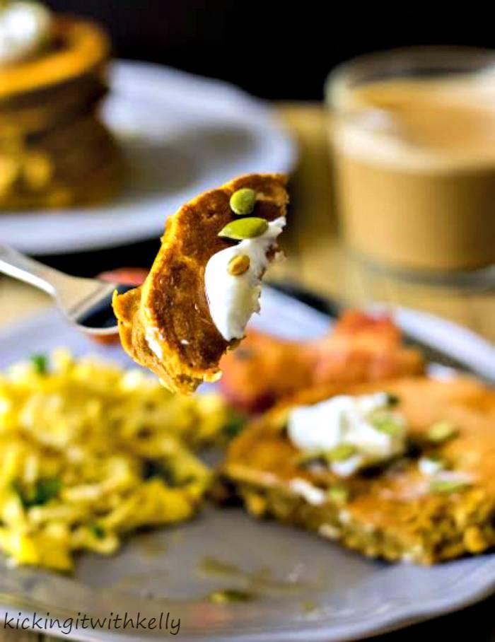 Pumpkin Spice Protein Pancakes 516