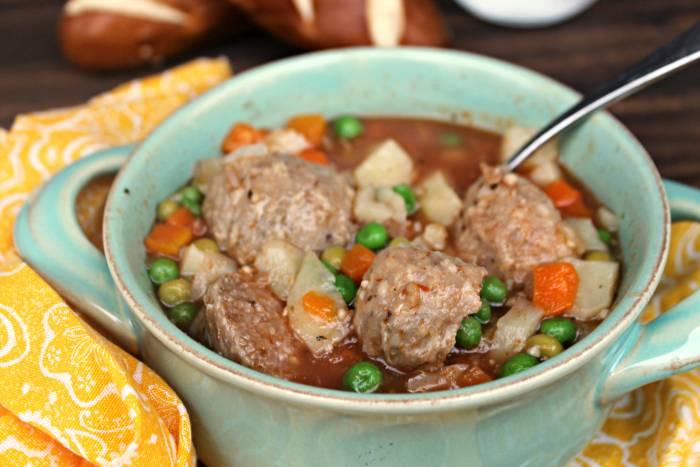 Skinny Slow Cooker Meatball Soup Recipe 5