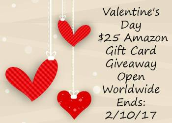 Valentine's Day $25 Amazon Gift Card Giveaway