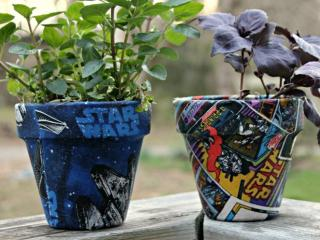 These Fabric Covered Flower Pots Are An Easy Star Wars Craft Idea