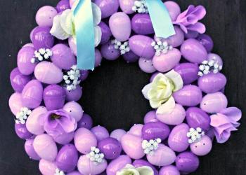 DIY Floral Easter Egg Wreath Tutorial final