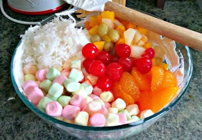 Heavenly Ambrosia Fruit Salad ingredients