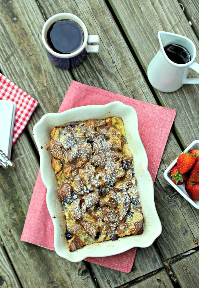Blueberry Dulce de Leche French Toast Casserole 5