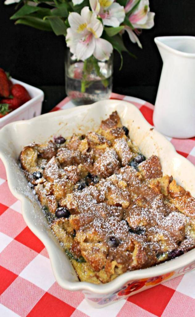 Blueberry Dulce de Leche French Toast Casserole 4