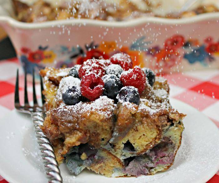 Blueberry Dulce de Leche French Toast Casserole 3