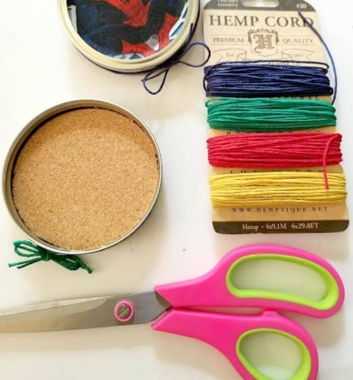 Superhero Mason Jar Lid Coaster Craft For Dad step five