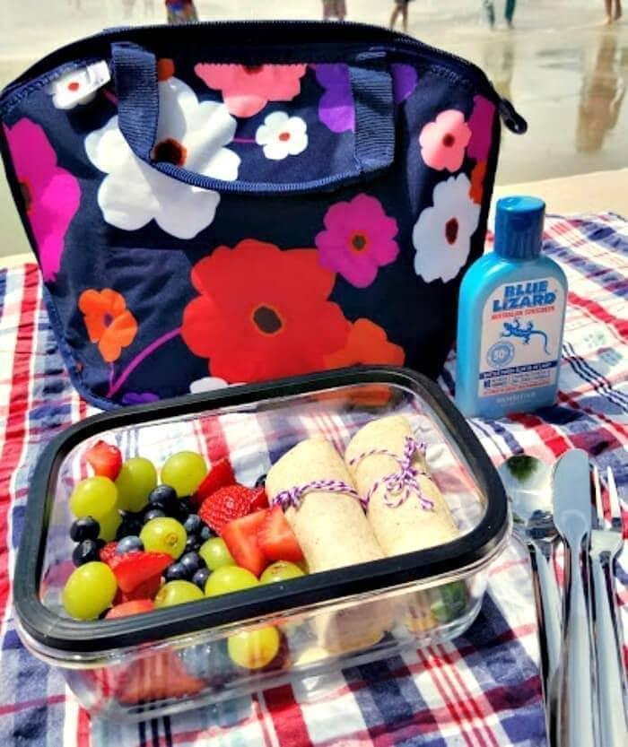 Strawberry Chicken Salad Sandwich Wraps lunch