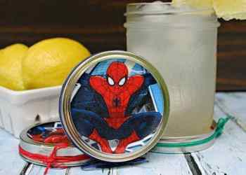 Superhero Mason Jar Lid Coaster Craft For Dad final