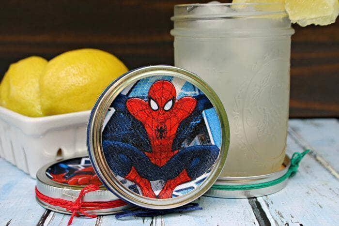 Superhero Mason Jar Lid Coaster Craft For Dad final