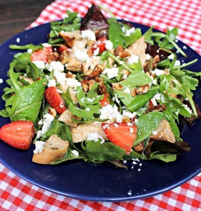 Strawberry Chicken Salad Sandwich Wraps salad