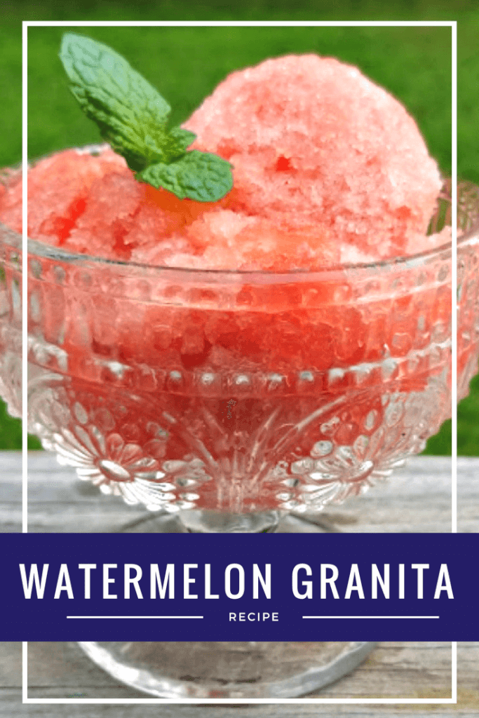 My Watermelon Granita is a light and refreshing dessert for your next summer get together!