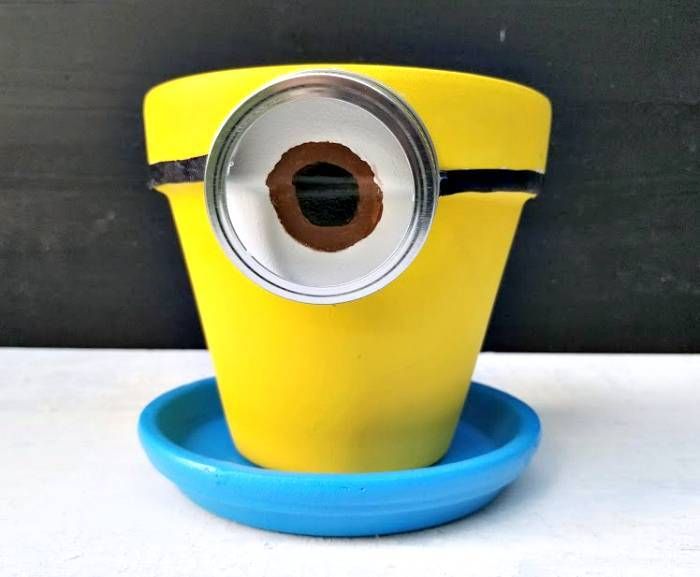 DIY Minion Flower Planter step six