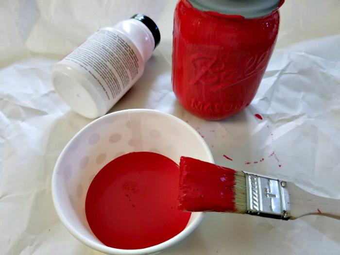 Apple Mason Jar Pencil Holder Teacher Gift Craft step three
