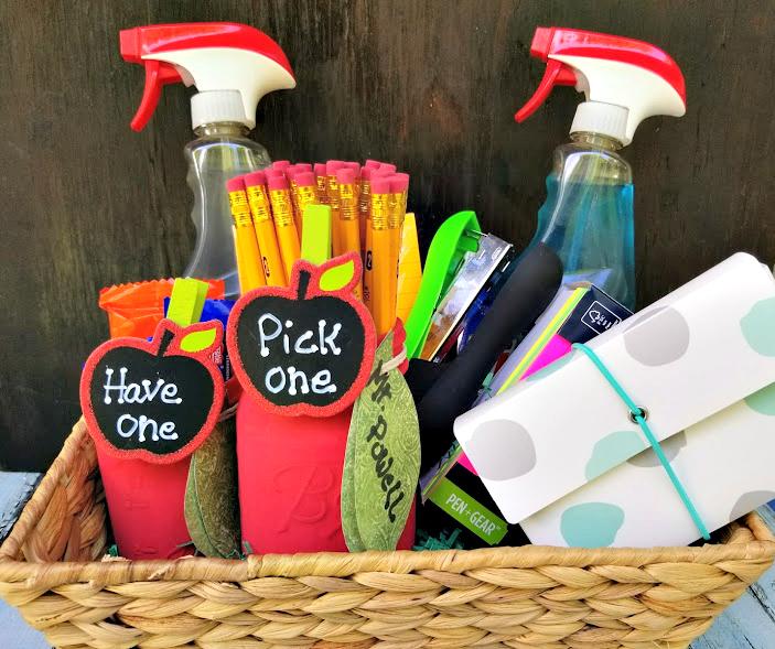 Mason Jar Apple Pencil Holder Teacher Gifts basket
