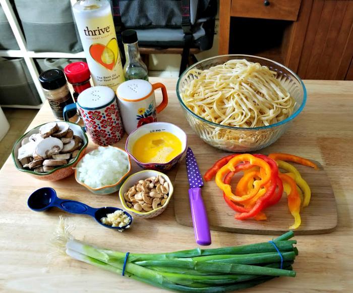 30 Minute Vegetarian Spicy Thai Noodles Recipe ingredients