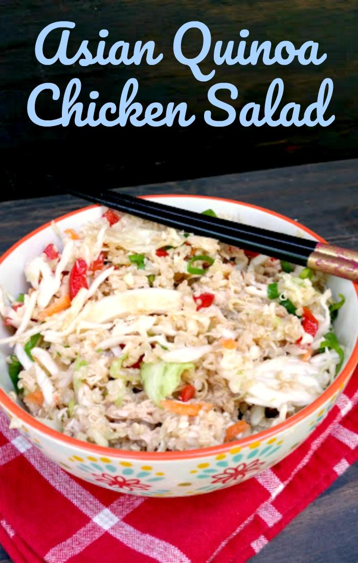 This Healthy Asian Quinoa Chicken Salad Recipe is an affordable and delicious lunch or dinner recipe the whole family will love.