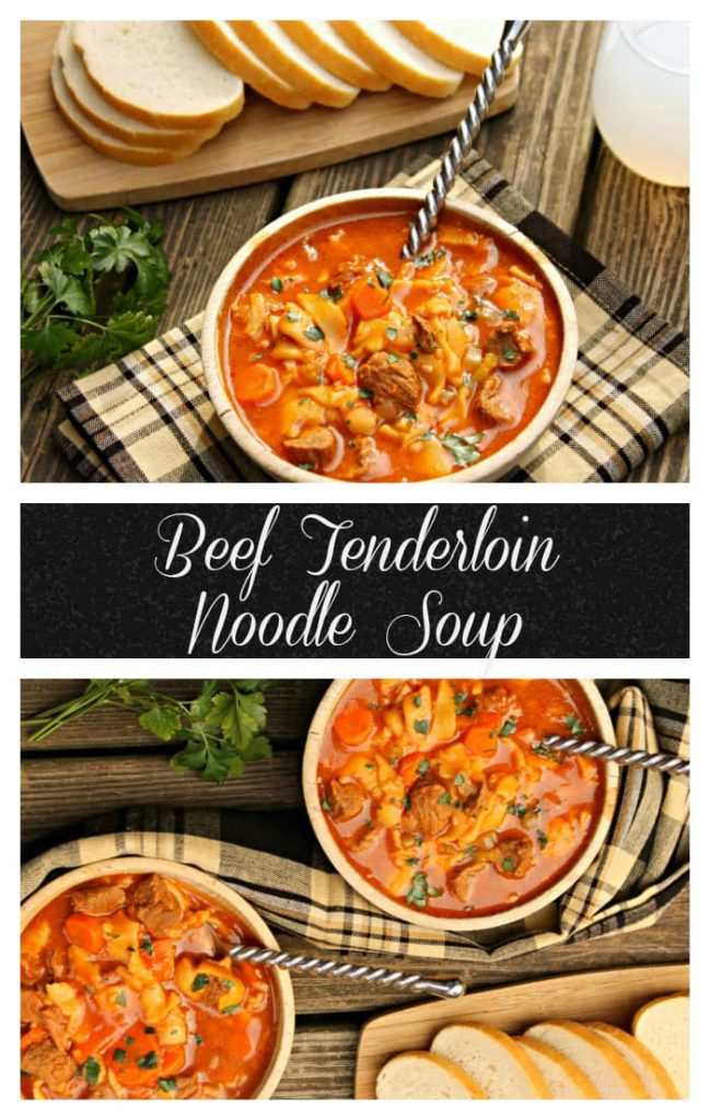 Baby it is getting cold outside, so it is time to get out those comfort food recipes! Ladle up the most tender crock pot beef noodle soup recipe on the planet! #ad