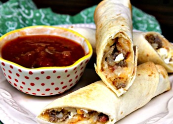 Freezer Friendly Loaded Baked Breakfast Burrito Recipe