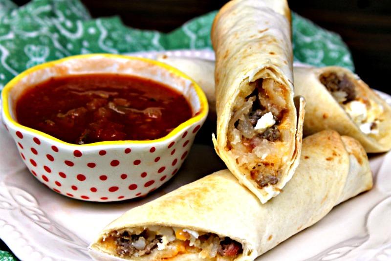 Freezer Friendly Loaded Baked Breakfast Burrito Recipe