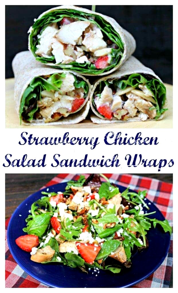 In the summer, the kids and I want to play in the sun and water. When we do, we enjoy a picnic with my Healthy Strawberry Chicken Salad Sandwich Wraps Recipe. I have the salad and the kids have the wraps. Either way, you get a healthy and delicious lunch