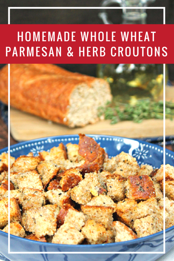 On nights when I am short on time but want a delicious meal, I rely on @progresso soups from @walmart. I top them with my Homemade Whole Wheat Parmesan and Herb Croutons and serve with a fresh garden salad. Yum! #ad