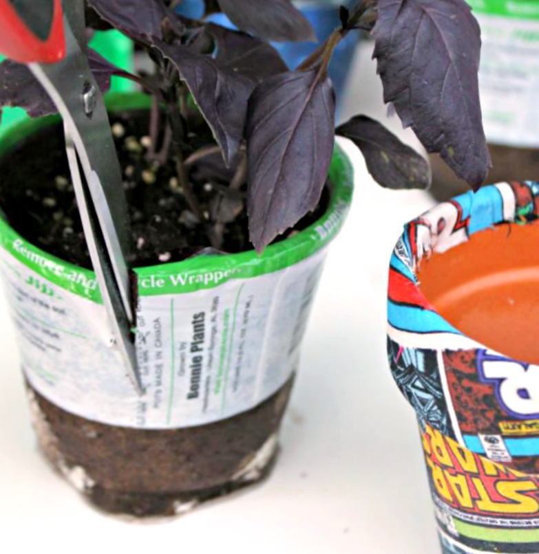 Easy Star Wars Fabric Covered Flower Pots Craft Idea 2