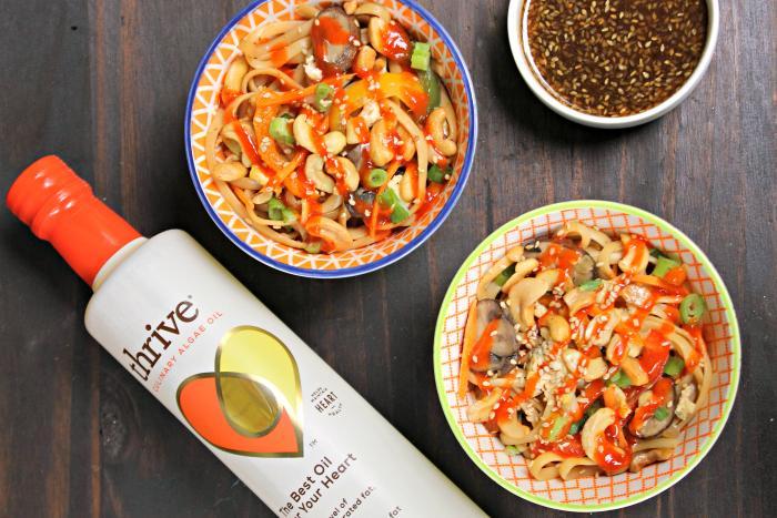 30 Minute Vegetarian Spicy Thai Noodles Recipe bottle
