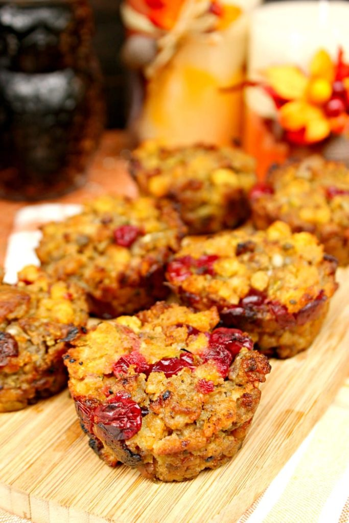 Cranberry And Sausage Herb Stuffing Muffins 3