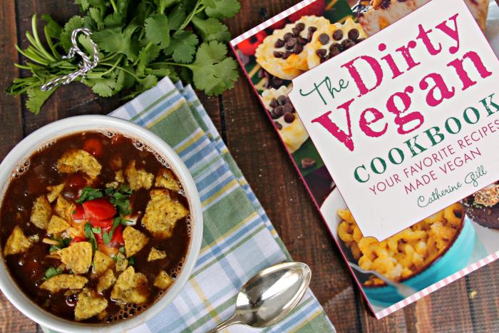 Loaded Vegan Black Bean Soup Recipe
