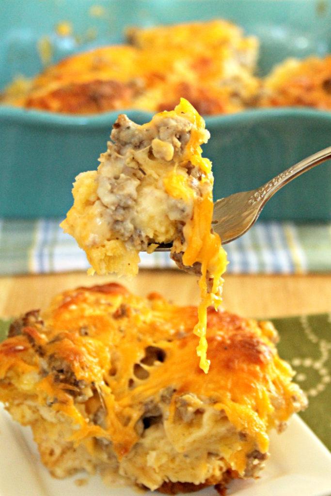 Sausage Biscuit Gravy Bake Recipe 4