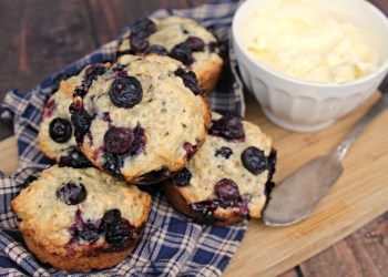 Blueberry-Banana Oat Breakfast Muffin Recipe