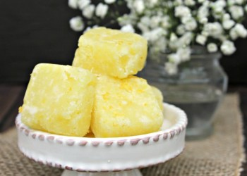 Exfoliating Lemon Sugar Cubes Body Scrub Recipe