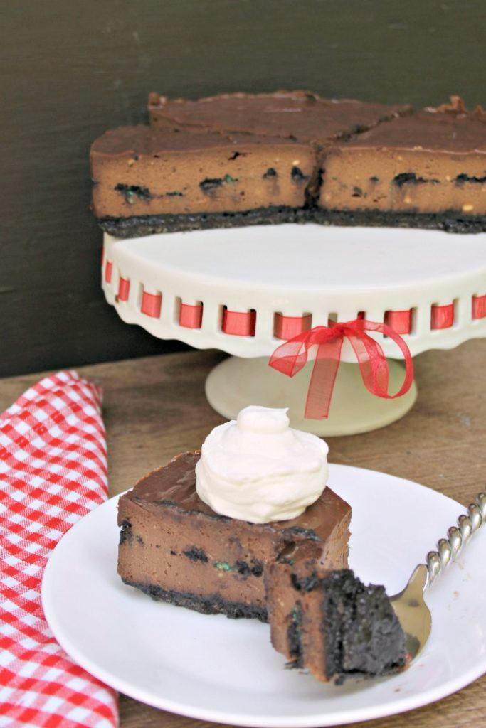 Double Chocolate Mint Oreo Cheesecake Recipe 3