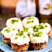 Mini Turkey Meatloaf Muffins With Mashed Potatoes