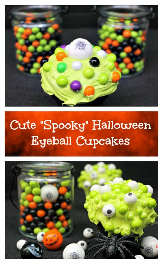 Cute Spooky Halloween Eyeball Cupcakes akaEye Of Newt Cupcakes