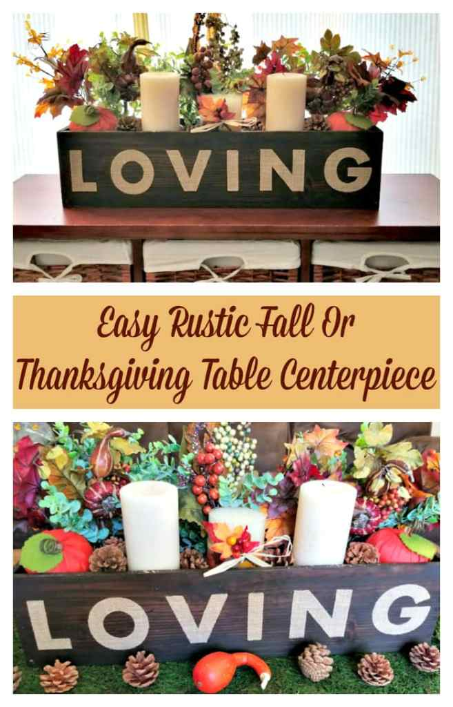 If you love the farmhouse look for your home, you will love this affordable and Easy Rustic Fall Or Thanksgiving Table Centerpiece with supplies from @orientaltrading #ad