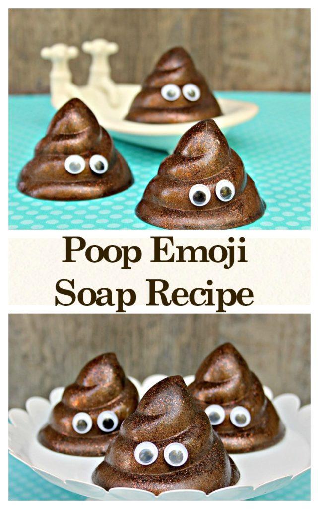 Make hand washing fun by making this cute DIY Poop Emoji Soap Recipe For Kids