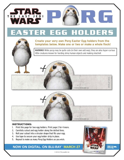 Star Wars: The Last Jedi Easter activity page1