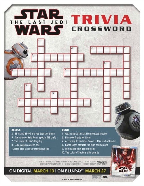 Star Wars: The Last Jedi activity page2