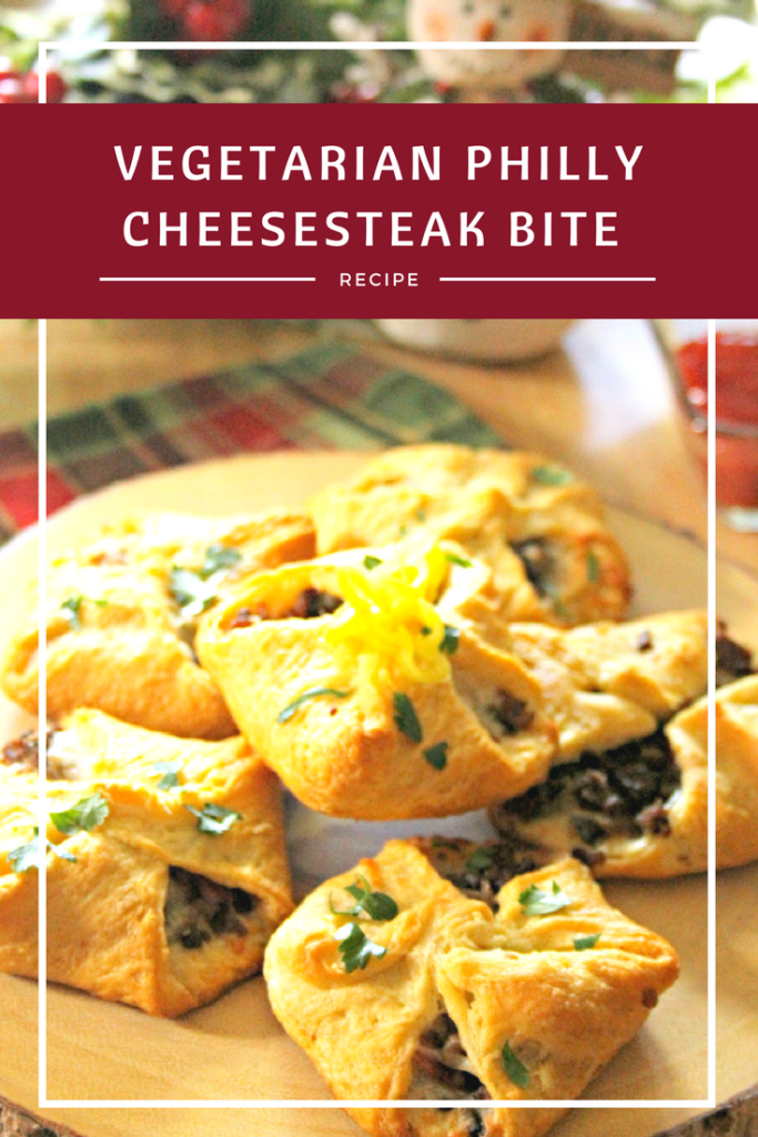 My Vegetarian Philly Cheesesteak Bites is one of my most popular vegetarian holiday recipes #ad morningstarfrms #VeryVeggieHoliday