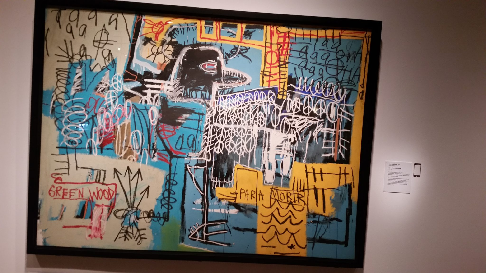 Jean-Michel Basquiat Bird On Money, 1980