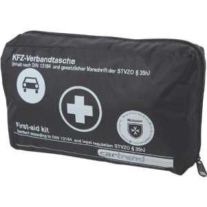 Cartrend 7730043 Trousse de secours norme DIN 13164 brochure incluse (Noir)