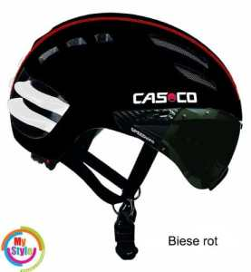 Casco Casque pour adulte Speed Airo Large schwarz Biese rot