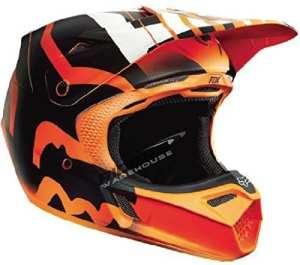 Fox Racing Savant Men's V3 Motocross Motorcycle Helmet – Orange / Medium by Fox Racing