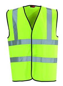 High Viz Vest 2 Band And Brace – Yellow Large
