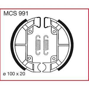 Machoires de freins Lucas MCS991 pour Gilera Storm 50 TEC1T | Piaggio NRG 50 SAL1T – LC – DT | Piaggio Quartz 50 NSP1T | Piaggio Sfera 50 NSL1T | Piaggio Sfera 80 NS81T | Piaggio TPH 50 TEC1T